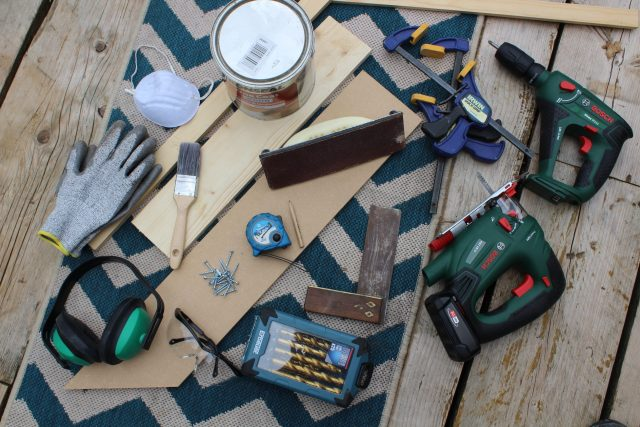 Tools For Making DIY Triangle Shelves