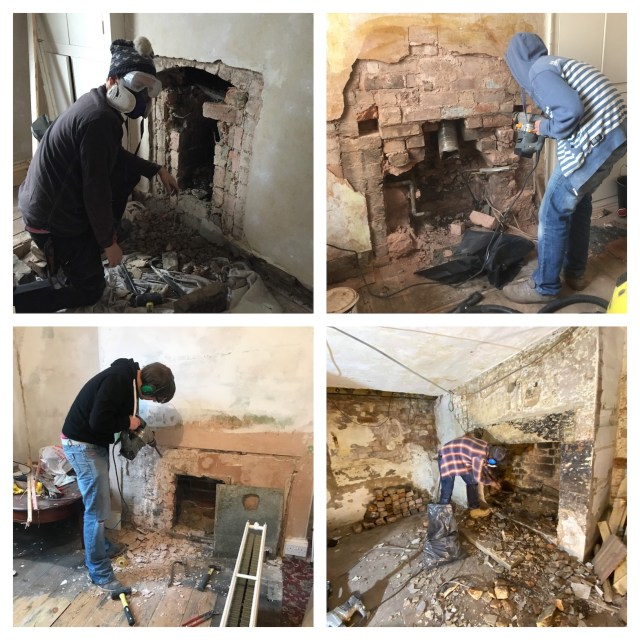 opening a bricked up fireplace or chimney