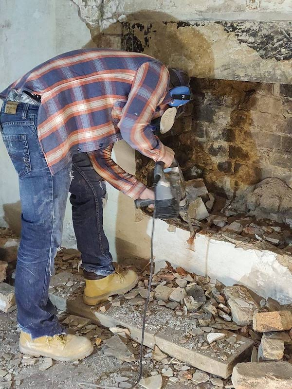 how to open a bricked up fireplace