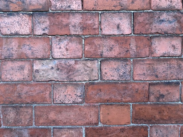 Victorian bricks with lime mortar
